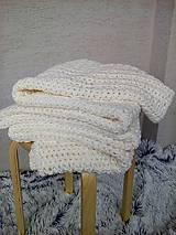 Úžitkový textil - Háčkovaná deka, prehoz - 6886898_