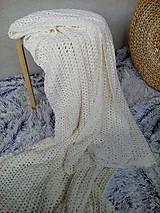 Úžitkový textil - Háčkovaná deka, prehoz - 6886903_