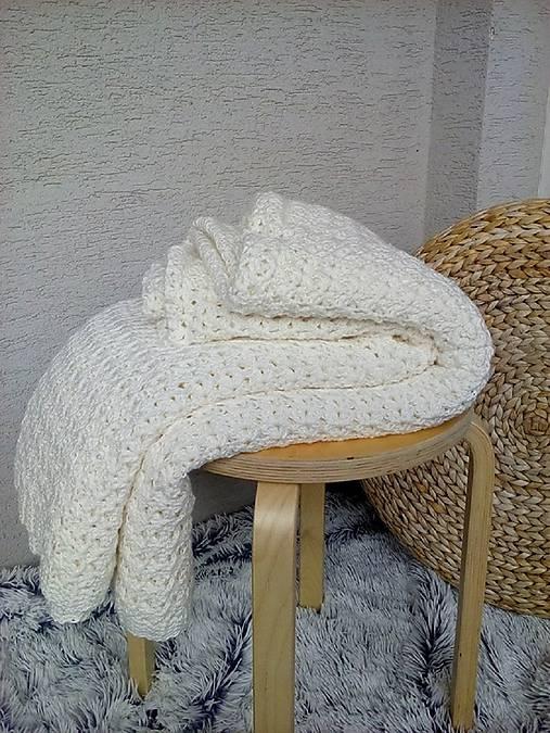 Háčkovaná deka, prehoz