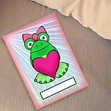 Papiernictvo - Žabí zápisník (lúče (zamilovaná)) - 6886005_