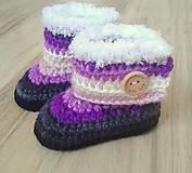 Topánočky - Fialové melírované čižmičky - 6891141_
