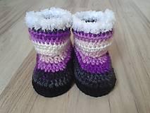 Topánočky - Fialové melírované čižmičky - 6891145_