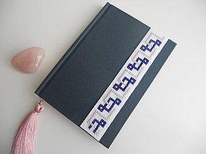 Papiernictvo - Amber  (zápisník s výšivkou) - 6889778_