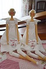 Bábiky - Biele anjeločky s krátkymi krídlami - 6890145_