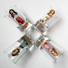 Nádoby - Ručne maľované poháre - miniatúrky karikatúry podľa fotografie