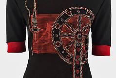 Tričká - Dámske šité, farbené, maľované tričko  KOLOVRÁTOK - 6890186_