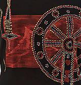 Tričká - Dámske šité, farbené, maľované tričko  KOLOVRÁTOK - 6890187_