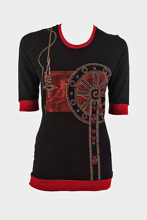 Dámske šité, farbené, maľované tričko  KOLOVRÁTOK
