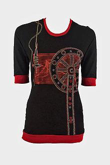 Tričká - Dámske šité, farbené, maľované tričko  KOLOVRÁTOK - 6890185_