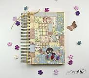 Papiernictvo - Kniha hostí s patchwork vzorom a čipkou - 6889502_