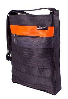 Kabelky - Octavia black and orange-z bezpečnostních auto pásů - 6892358_