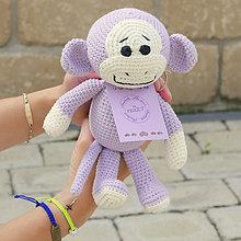 Hračky - háčkovaná opička - 6889815_