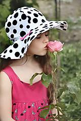 Detské čiapky - Letný klobúk Dalmatín - 6889800_
