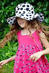 Detské čiapky - Letný klobúk Dalmatín - 6889801_