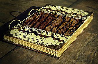 Papiernictvo - Vintage kniha hostí vo vidieckom,country prírodnom štýle - 6891122_