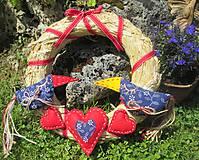 Dekorácie - Venček zamilované vtáčiky - 6890964_