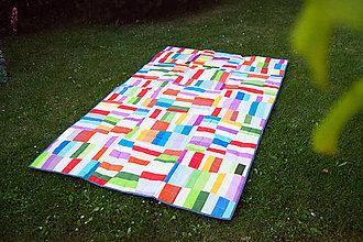 Úžitkový textil - Deka patchwork - 6890373_