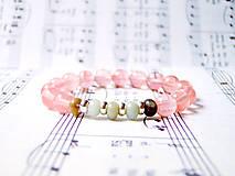 Náramky - Cherry Quartz & Amazonite / Elastický náramok s cherry krištáľom a amazonitom - 6894540_