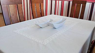 Úžitkový textil - Obrus biely s krajkou - 6894915_