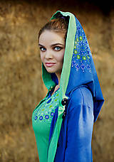 Dámska šitá, farbená, maľovaná mikina STUDNIČKA