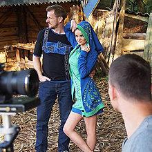Šaty - Dámske šité, farbené a maľované šaty ČISTINKA - 6893519_