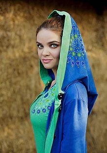Mikiny - Dámska šitá, farbená, maľovaná mikina STUDNIČKA - 6893579_