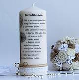 Darčeky pre svadobčanov - Dekoračná sviečka pre mladomanželov II. - 6894519_