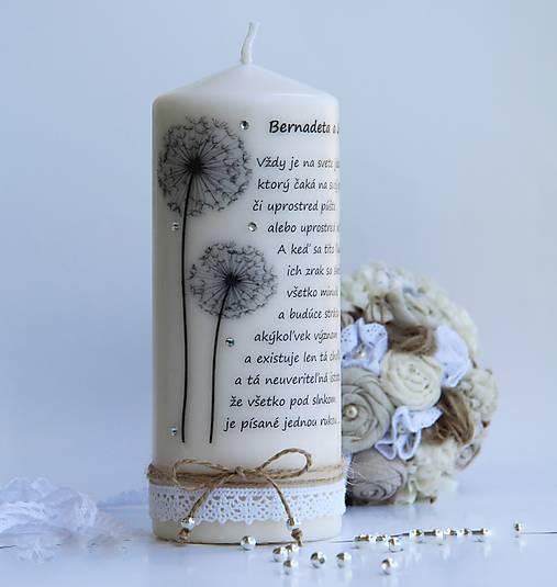 Dekoračná sviečka pre mladomanželov II.