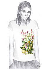 Tričká - Maľované tričko Lúka 2  - 6894671_