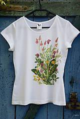Tričká - Maľované tričko Lúka 2  - 6894768_