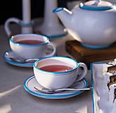 Nádoby - Convivium čajový set modrý (2 ks šálka + 2 ks podšálka) - 6893409_