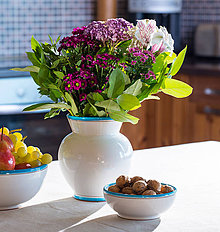 Dekorácie - Convivium váza habán modrá - 6894480_