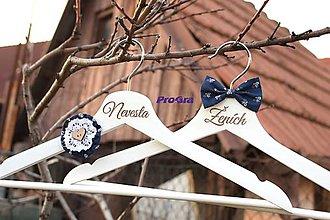 Nábytok - Svadobné vešiačiky ľudové - 6894439_