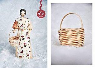 Bábiky - Bábika s košíkom - 6893297_