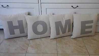 Úžitkový textil - Vankúšiky HOME - 6893127_