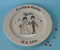 - Svadobný tanier - darček - 6894291_