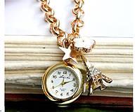 Náramky - Watches in Gold / Náramkové hodinky s príveskami - 6896748_