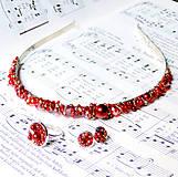 Sady šperkov - Red Passion Set / Set čelenky, náušníc a prsteňa - 6897348_