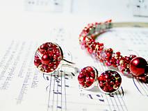 Náušnice - Red Passion / Puzetkové náušnice - 6897881_