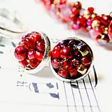 Náušnice - Red Passion / Puzetkové náušnice - 6897884_