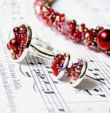 Náušnice - Red Passion / Puzetkové náušnice - 6897885_