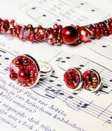 Náušnice - Red Passion / Puzetkové náušnice - 6897886_