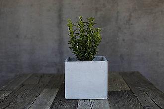 Nádoby - Betónový kvetináč 20x20x18 - 6898437_