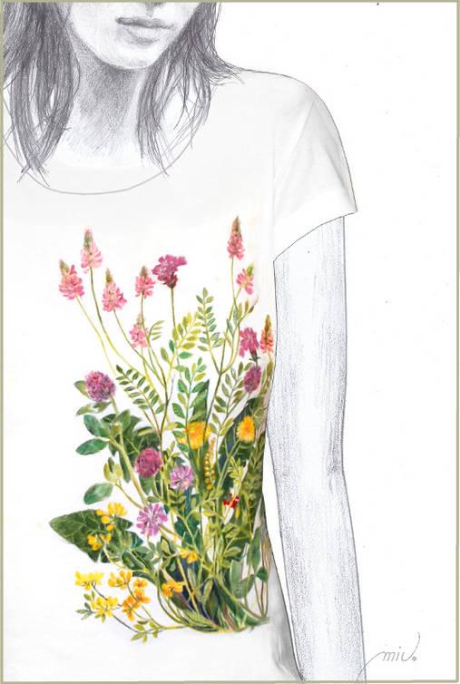 Maľované tričko Lúka 2