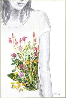 Tričká - Maľované tričko Lúka 2 - 6896009_