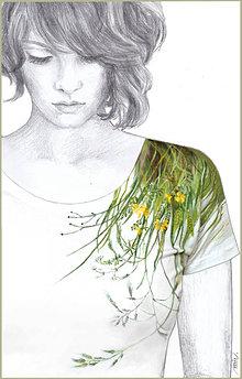 Tričká - Maľované tričko Lúka 3 - 6896026_