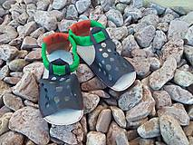 Topánočky - Barefoot sandalky s gumenou podrazkou Vd 16,3cm - 6898074_