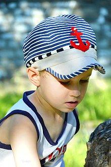Detské čiapky - Navy šiltovka Kotva - 6896268_