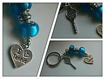 Iné šperky - Kľúčenka I LOVE TENIS - 6896074_