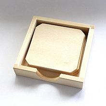 Polotovary - Nový zásobník s podložkami pod poháre(6ks) - 6897090_